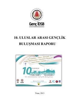 10. uluslar arası gençlik buluşması raporu