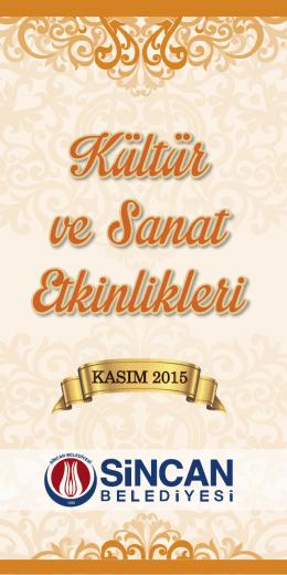 kasım 2015 - Sincan Belediyesi
