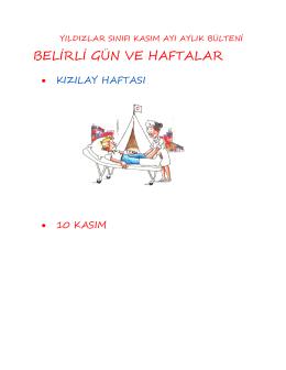 BELİRLİ GÜN VE HAFTALAR