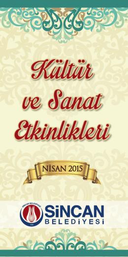 NİSAN 2015 - Sincan Belediyesi