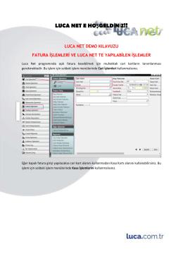 LUCA NET E HOŞGELDİNİZ!!
