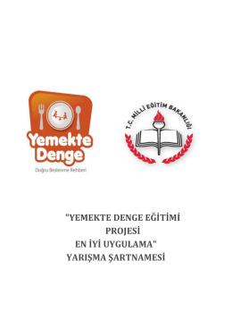 """""""YEMEKTE DENGE EĞİTİMİ PROJESİ EN İYİ UYGULAMA"""