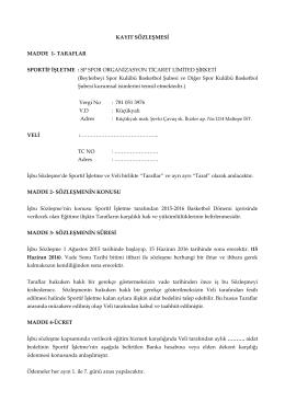sözleşme pdf - Beylerbeyi Basketbol
