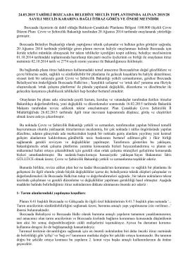 imar itiraz metni - Bozcaada Belediye Başkanlığı