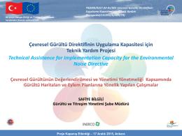 Türkiye`de Gürültü Haritalama Çalışmaları