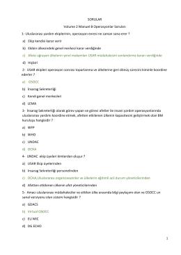 SORULAR Volume 2 Manuel B Operasyonlar Soruları 1
