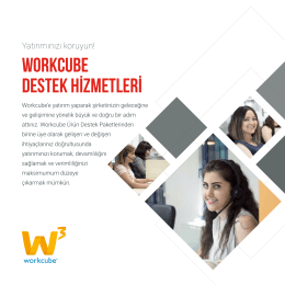 WORKCUBE DESTEK HİZMETLERİ