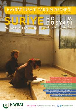 Suriye Muhacir Okulu - Hayrat İnsani Yardım Derneği