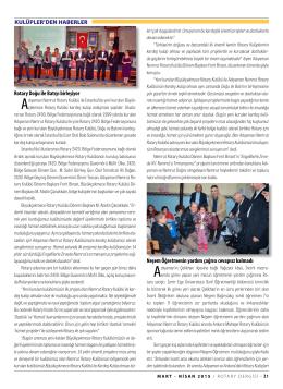SAYFA 31-37 KULÜPLERDEN HABERLER Bölge