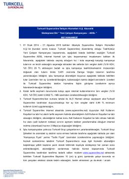 Yeni Çalışan Kampanyası – ADSL - Turkcell Superonline Turkcell