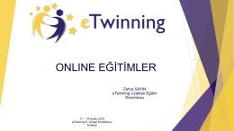 Online Eğitimler - eTwinning Türkiye