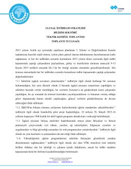 3.İDK Teknik Komite Toplantısı (10.11.2015)