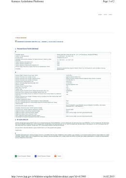Page 1 of 2 Kamuyu Aydınlatma Platformu 16.02.2015 http://www