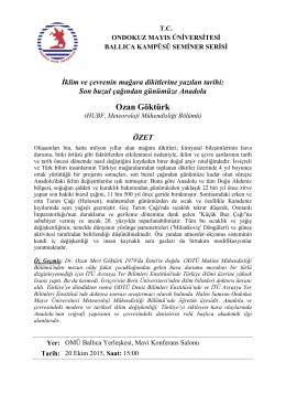 Ozan Göktürk - Ondokuz Mayıs Üniversitesi