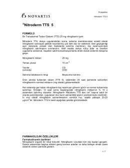 Nitroderm TTS 5 - SanalHastanemiz Sağlık Bilgileri