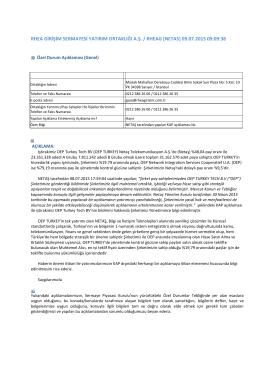 (09.07.2015) NETAŞ tarafından yapılan KAP açıklaması hk.