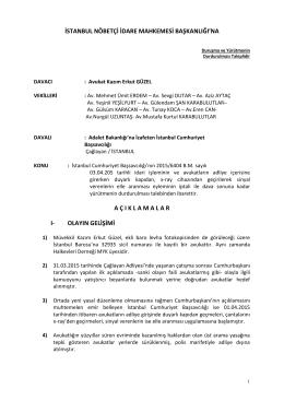 Halkevleri Hukuk Dairesi tarafından hazırlanan dilekçe