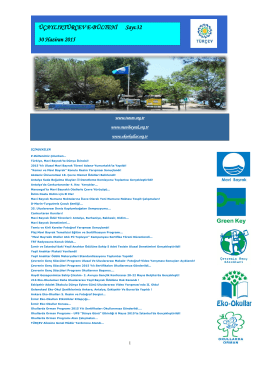 2015 Yılı Haziran e-bülten - Türkiye Çevre Eğitim Vakfı (TÜRÇEV)