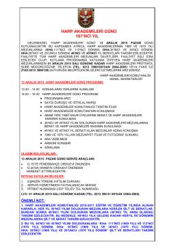 HARP AKADEMİLERİ GÜNÜ - Harp Akademileri Komutanlığı