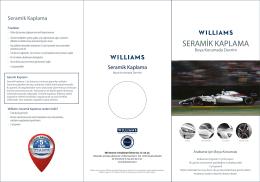WILLIAMS seramik broşürü