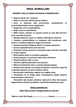 okul kuralları