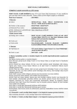 20150587 DERİ YELEK - Türkiye Vagon Sanayi A.Ş.
