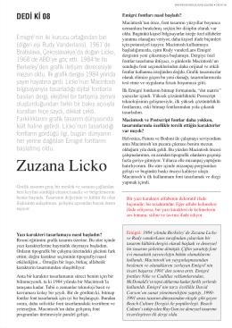 YAYIN Zuzana Licko Dedi ki / Sayı: 08