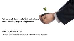 Prof. Dr. Bülent UZUN