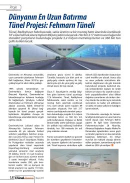 Dünyanın En Uzun Batırma Tünel Projesi