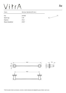 Tanım : İlia Uzun Havluluk (472 mm.) Kod : A44392 Ağırlık (kg