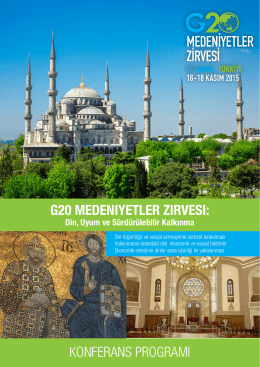 2015 G20 Interfaith Summit Program – Turkish (web) 20151110 2151