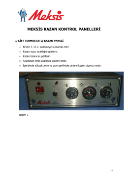 MEKSİS KAZAN KONTROL PANELLERİ