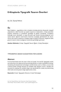 E-Kitaplarda Tipografik Tasarım Önerileri