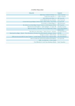 6.Sınıflar Kitap Listesi Fen Bilimleri 6. Sınıf Soru Bankası Kitabı Esen