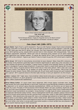 John Stuart Mill - CU Department of Economics
