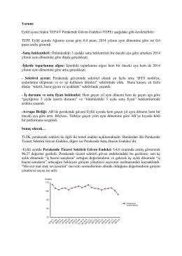 2015 Eylül TEPAV Parekende Güven Endeksi Yorumu.