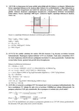 1) (10 P) Bir su deposunun üst kısmı şekilde gösterildiği gibi iki
