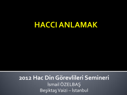 HACCI ANLAMAK - Vehbiaksit.net
