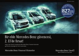 """Used1`da """"Bir Elde Mercedes-Benz Güvencesi, 2. El`de Fırsat!"""""""