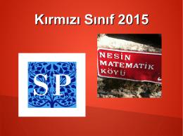Kırmızı Sınıf 2015
