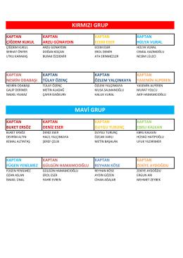 mavi grup kırmızı grup