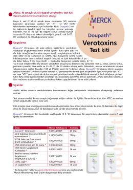 Verotoxins - Mikrobiyoloji.org