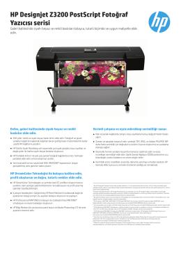 HP Designjet Z3200 PostScript Fotoğraf Yazıcısı serisi