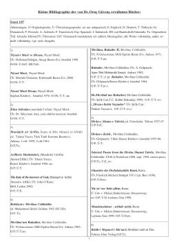Kleine Bibliographie der von Dr.Oruç Güvenç erwähnten Bücher: