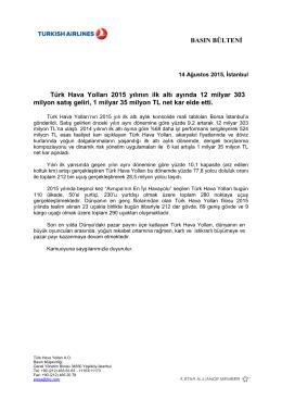 THY BASIN BULTENI 2Q2015