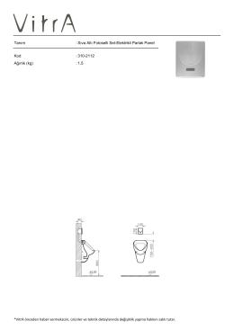 Tanım : Sıva Altı Fotoselli Set-Elektrikli Parlak Panel Kod : 310
