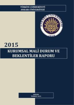 2015 Yılı - Strateji Geliştirme Daire Başkanlığı