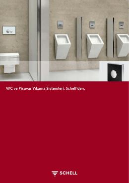 WC ve Pisuvar Yıkama Sistemleri, Schell`den.