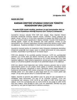 karsan üretimi hyundaı h350`ler türkiye roadshow