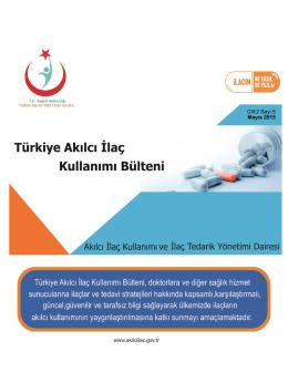 aik bltn 8 - Akılcı İlaç Kullanımı